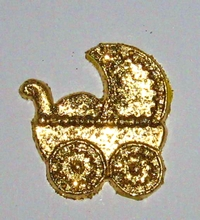 1 Kinderwagen-Gold  37 x 36 mm